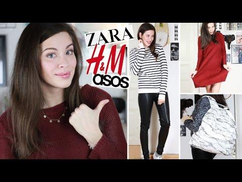 HAUL mit ANPROBE: H&M, Zara, Asos | Trends für Uni, Schule, Alltag | OUTFITS + FASHION TRY ON