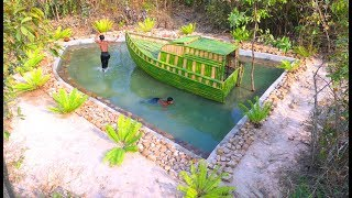 Amazing Build Beautiful Swimming Pool  Around Boat House
