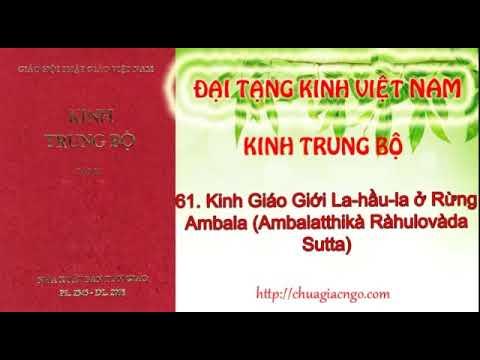 Kinh Trung Bộ - 061. Kinh Giáo giới La-hầu-la ở am-bà-la