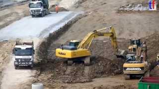 preview picture of video 'Earthmoving Fleet / Erdbauflotte für NBS Wendlingen - Ulm, PFA 2.1C, Aichelberg, Germany, 2014.'