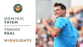 Dominic Thiem Vs Tommy Paul - Round 1 Highlights | Roland-Garros 2019