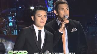 Gary, Paolo perform mashup of 'I'll Be There' and 'I Will Be Here'