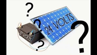 Can I connect a 12V battery to a 24V solar panel? How does an MPPT work?