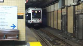 preview picture of video 'Newark Light Rail Trains in Newark Penn Station'