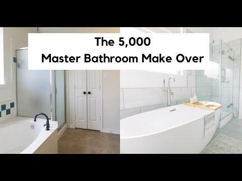 The 5,000 Master Bathroom Remodel | Master Bathroom Makeover