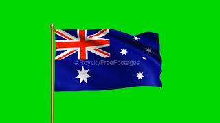 Australia Flag waving, Australian National Flag | Australian Flag Green Screen | flag of Australia