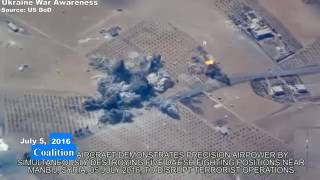 New footage US Coalition Airstrike against ISIS in Syria + other recents released by DoD.