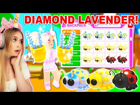 Using DIAMOND LAVENDER To Get These LEGENDARY *LADYBUGS* In Adopt Me! (Roblox)