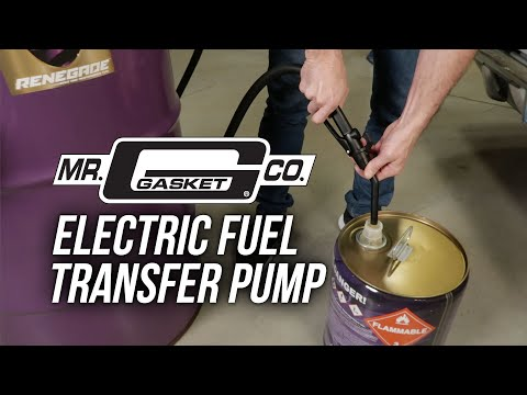 Mr Gasket Electric Fuel Transfer Pump For Fuel Drums