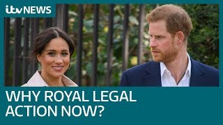 Was this the right moment for Harry and Meghan to announce their legal action? | ITV News