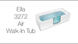 3272 Laydown Acrylic Walk-In Tub Video