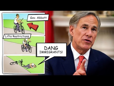 Texas' Governor Lifts Mask Mandate, Then Blames Immigrants for COVID Spike