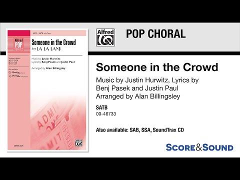 Someone in the Crowd, arr. Alan Billingsley – Score & Sound