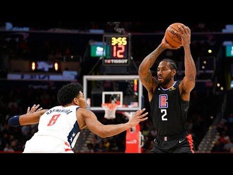 Kawhi, Paul George Combine 61 Pts vs Wizards! 2019-20 NBA Season