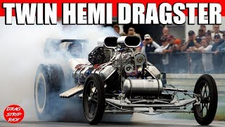 Twin Hemi Dragster Nostalgia Drag Racing Jalopy Showdown Drags Beaver Springs Dragway 2012