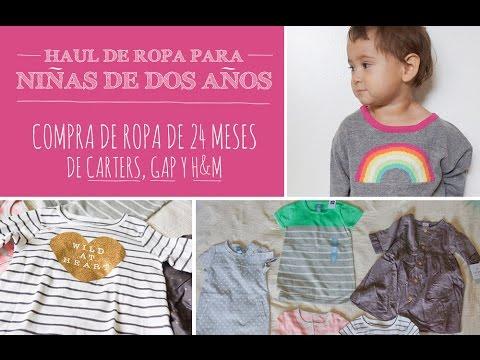 Haul de ropa para niñas de 2 años - Compra de ropa talla 24 meses de Carters, GAP, H&M y Target