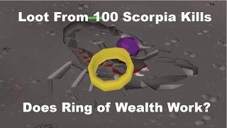 Runescape 2007 - Loot from 100 Scorpia Kills