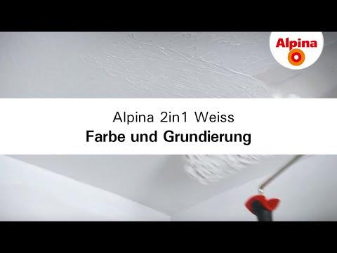 Alpina 2in1 Weiss - Farbe und Grundierung in einem Produkt