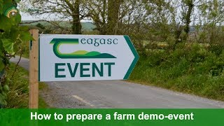 How to prepare a demo-event – 10 Tips by Sandra Hayes, TEAGASC