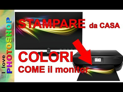 Photoshop tutorial italiano - Stampare foto a casa con colori fedeli, stampa foto fai da te