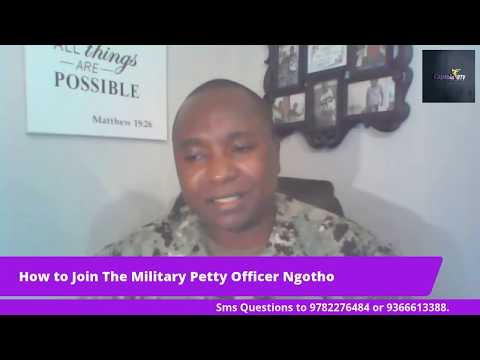 Kenyan Born Petty Officer Moses Ngotho, a US Navy Recruiter telling us how to join the military.