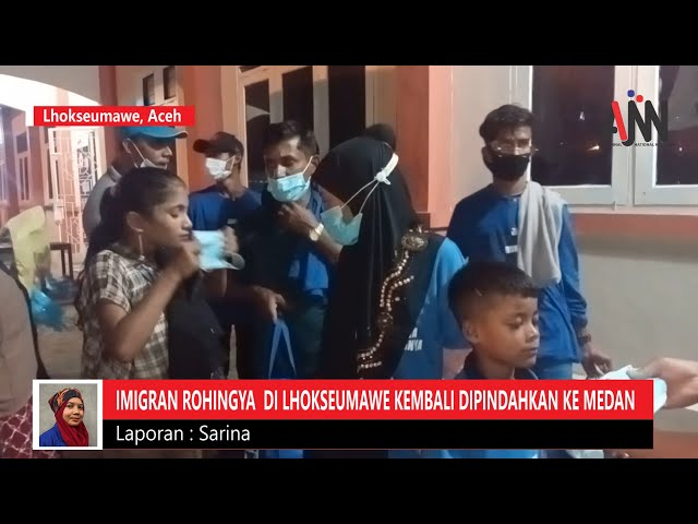 Puluhan Imigran Rohingya di Lhokseumawe Kembali Dipindahkan ke Medan