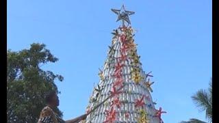 Unik, Warga Jembrana Bikin Pohon Natal dari Botol Plastik Bekas