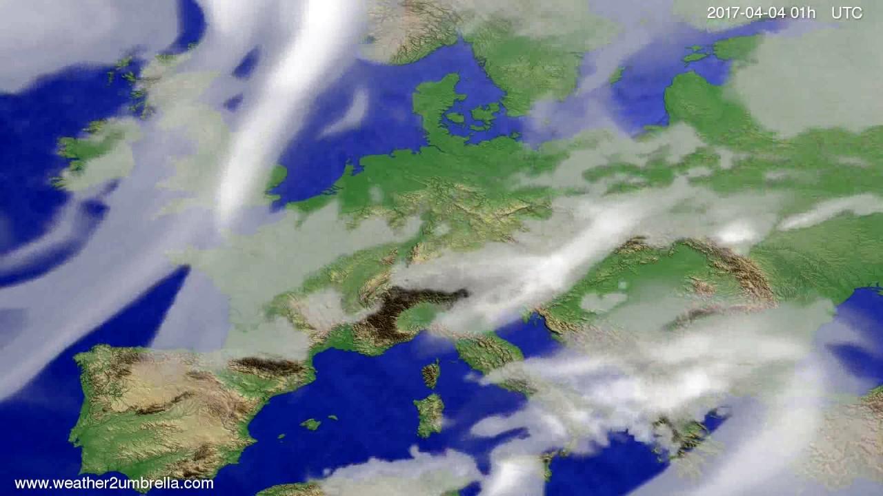 Cloud forecast Europe 2017-04-01