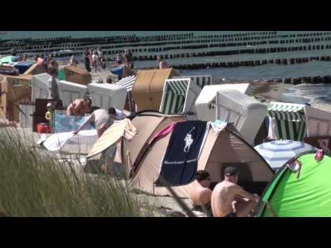 Swimsuits optional at a northern German beach 20th July 2013