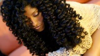 Natural Hair No Heat Curls & Waves Flexi Rod Set Tutorial