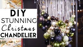 DIY Christmas Ball Chandelier | Christmas Decorations