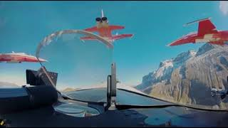 Mit der Patrouille Suisse über die Axalp I VR-Video