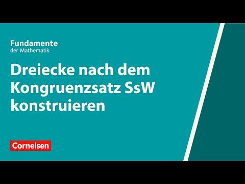Cover: Dreiecke nach dem Kongruenzsatz SsW konstruieren   Fundamente der Mathematik   Erklärvideo - YouTube