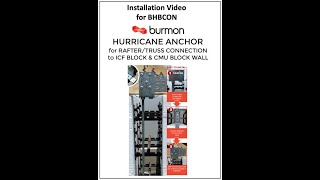 Hurricane Anchor for ICF Block & CMU Block Wall