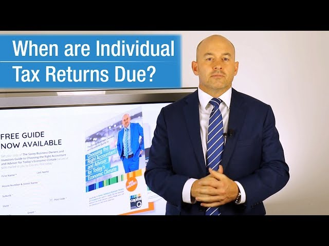 CapitalQ news: When are tax returns due?