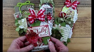 Quick & Easy Christmas Tags  Pollys Paper Studio Have A Jolly Holiday Printable Process DIY  Craft