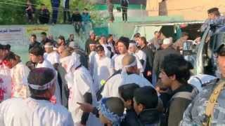 preview picture of video 'موكب تطبير حي الربيع - الكوت - واسط 3'