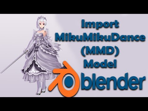 How to export Blender Model to pmx, pmd and mmd (Pymeshio