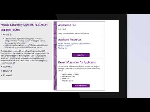 How do I apply for ASCP BOC Certification? - YouTube