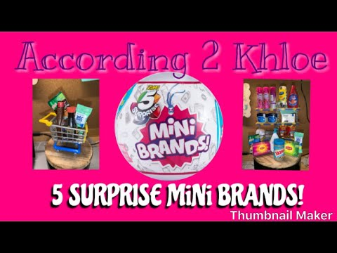 Opening 5 Surprise MiNi Brands toys!
