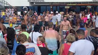 Holiday Cruise 2019 Aboard Carnival Liberty Hairy Chest Contest