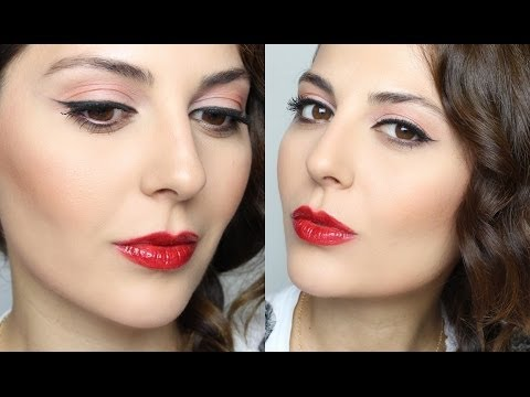 Classic Makeup Tutorial: Cat Eye & Red Lips | Sona Gasparian