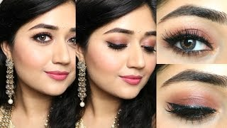 Indian Makeup Tutorial : Natural Rosy Brown Makeup | corallista