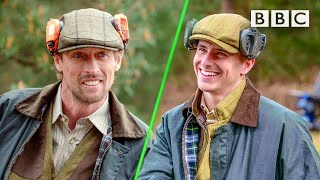 Peter Crouch challenges Mason Mount to a clay pigeon contest 😂 Euro 2020 ⚽️ BBC
