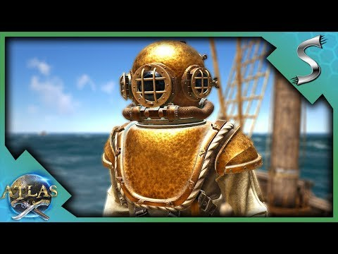 DIVING FOR SUNKEN TREASURES AND BATTLING ON THE SEAS! - Atlas Adventures [E4]