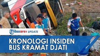 Kronologi Kecelakaan Tunggal Bus Kramat Djati di Tol Surabaya-Mojokerto