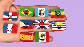 EMOJI FLAGS! Polymer Clay Tutorial