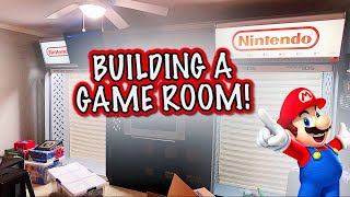 Setting Up The NEW Retro Game Room! (Part 1)