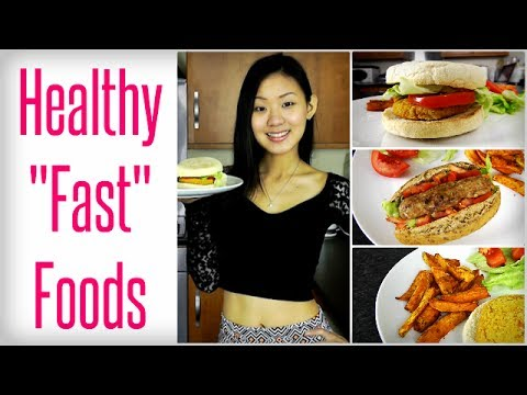 Video Healthy 'Fast' Foods - Veggie Burger, Hot Dog & Fries