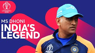 Is Ms Dhoni India's Biggest Legend? | Player Feature | ICC Cricket World Cup